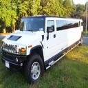 Hummer Limo capable of seating up to 20 passengers